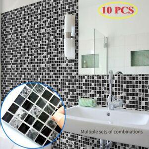 10 Fliesen Selbstklebend Küche Badezimmer Kachel Aufkleber Mosaik Wandkunst DIY