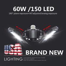 150 LED Garage Light Bulb Deformable Ceiling Fixture Lights Shop Workshop Lamp