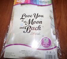 """Janlynn Love You To The Moon And Back Pre-Made Stamped Pillow Kit 14"""" x 14"""""""