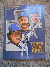 Old Vintage 1987 Official Program Milwaukee Brewers California Angels three kind