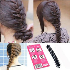 Goody Black Womens Hair Styling Clip Stick Bun Maker Braid Tool Accessories DIY