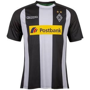Kappa con Lema de 'Borussia Mönchengladbach' Camiseta 2017/2018 Negro/Blanco