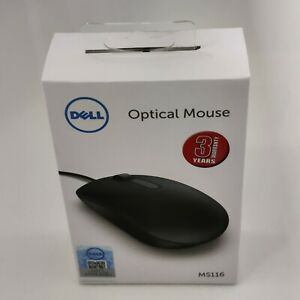 New Original Dell MS116 Optical Wired USB Mouse 1000 DPI Scroll -Premium Quality