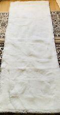 Fourrure Tapis en Peau de Mouton Véritable Patchwork 160 X 65 CM