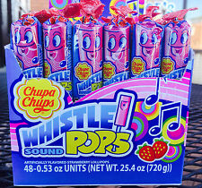 Chupa Chups Melody Whistle Pops 48ct Whistling Musical Lollipop FREE SHIPPING
