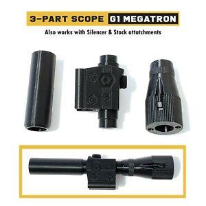 Replacement Scope Parts for G1 Megatron (3-Part Set) | 3D Printed