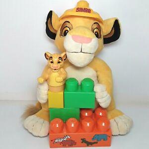 Simba plush soft toy doll Mega Bloks figure The Lion King Disney