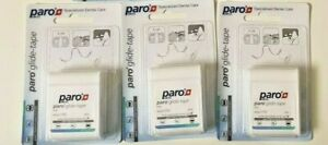 3 X PARO Glide Tape PTFE 20m Oral Dental Teeth Implant Floss Unwaxed Unflavored