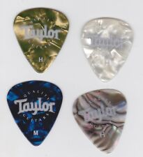 New listing 4 Taylor Guitar Company Promotional Heavy/Medium Celluloid Guitar Picks