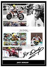 054... Joey Dunlop ottima riproduzione Firmata Stampa Taglia A4