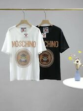 20Ss Moschinoshirts Hot Diamond with Circle Pattern White Flower T-Shirt