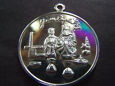 1971 Jason GAMES PEOPLE PLAY Fine Silver High Relief Mardi Gras Charm