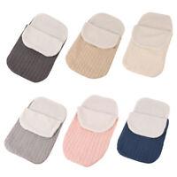Newborn Baby Warm Infant Knit Swaddle Wrap Swaddling Blanket Fleece Sleeping Bag