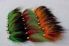 Spring Collection 24 pcs Assorted Popular Cone Heads Tube Flies Salmon Trout Fly