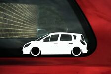 2x Lowered stickers auto aufkleber -for Renault Scenic II, 2003–2009