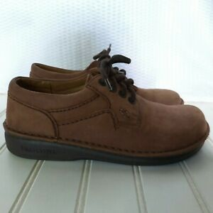 Birkenstock Nubuck Suede Lace Up Shoes Size 35 Narrow US 4 Brown Leather Derby