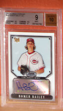 2007 Bowman Sterling Homer Bailey Auto Rookie Card BGS 9 Auto 10.