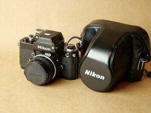 Nikon F2 SLR Film Camera Body Black with 50mm f2 lens