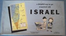 """Vintage """"ISRAEL"""" Puzzle of The Country Writing In English & Hebrew   *"""