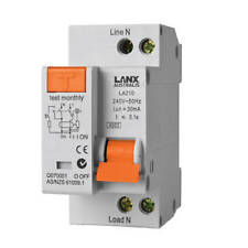 2 Pole Din Rail Mount 10A 16A 20A 25A 32A  RCD MCB RCBO Safety Switch Wholesale