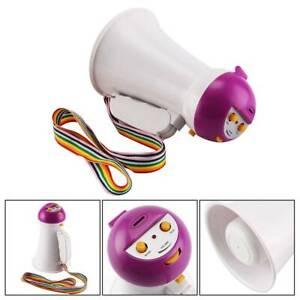 Mini Portable Talk Megaphone Foldable Handle Speaker Adjustable Volume Amplifier