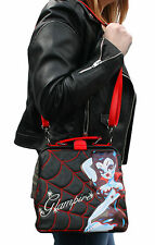 Kreepsville Glampire Miss Fluff Vampire Spider Web Crossbody Shoulder Bag Purse