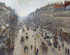 Boulevard Montmartre, morning, cloudy weather Camille Pissarro Paris B a3 00909