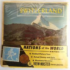 Switzerland  Vintage Sawyers Set ViewMaster B 185  Booklet  actual Stamp & Coin