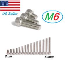 M6 Stainless Steel Metric Full Thread Allen Hex Socket Cap Head Screws Bolts