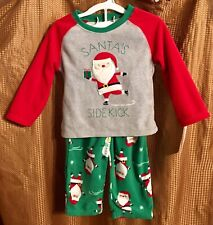 Santa's Sidekick 2 piece Baby Pajama set - Size 18 mos - Just One You - NEW