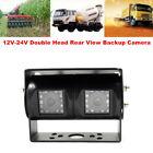 2 Head Rear View Backup Camera Bus Truck Van RV CCD IR Night Vision Waterproof