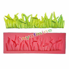 Silicone Mould Grass Fondant Cake Mold Chocolate Clay  Lace Pastry DIY