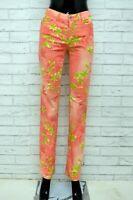 Pantalone Donna GUESS Taglia Size 28 Jeans Pants Woman Cotone Slim Fit Fiori
