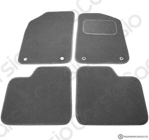 Fiat 500 2012 Onwards Tailored Black Car Floor Mats Carpets 4pc with Clips