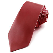CRAVATE pour homme en satin Rouge bordeaux - Necktie Necktie burgundy
