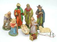 alte Krippenfiguren Massefiguren Marolin 12cm