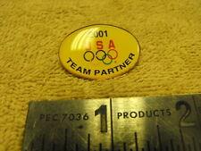2001 USA Olympics Team Partner Oval Pin