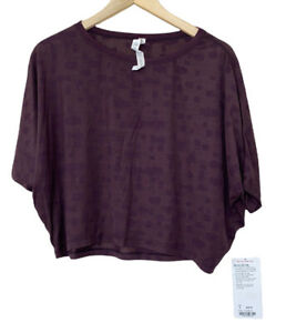 Lululemon Purple Go Om SS Tee New with Tags Size 8