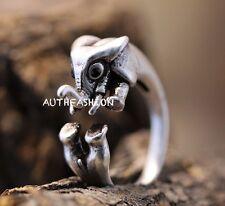 New Retro Elephant Ring E Women's Girl's Retro Burnished Animal Ring Jewelry