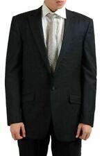 Gianni Versace 100% Laine Noir un Bouton Homme Blazer US 42 It 52