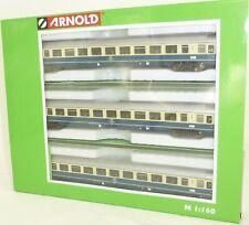 Arnold HN4201 Set 3x Coaches Intercity-wagen Bpmz Blue/beige N Gauge