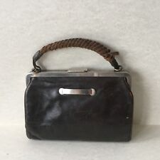 Vintage Old Small Brown Leather Hand Bag