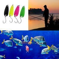 4pcs Hard Metal Spoon Fishing Lure Hard Crank Bait Bass Fishing Tackle Hook Jig