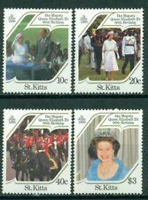 St. Kitts Scott #177-180 MNH Queen Elizabeth II 60th Birthday CV$3+