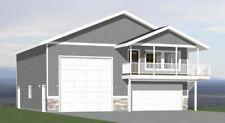 40x40 Apartment with 2-Car 1-RV Garage - PDF FloorPlan - 964 sqft - Model 1F