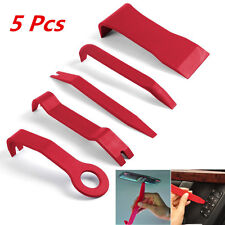 5pc Red Nylon Car Door Dash Moulding Tirm Panel Install & Removal Pry Open Tools