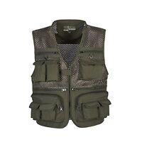 New Fishing Vest Multi-Pocket Photographer Waistcoat Mesh Breathable Cool Jacket