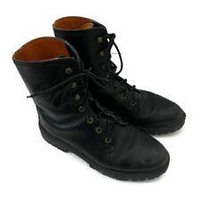 Sebago Size 9 Men's Leather Black High Lace Up Combat Boots