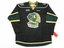 LONDON KNIGHTS OHL BLACK THIRD CCM PREMIER 7185 HOCKEY JERSEY