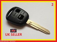 TOYOTA AVENSIS CELICA YARIS MR2 HIACE ECHO LAND CRUISER REMOTE KEY FOB 2 BUTTON